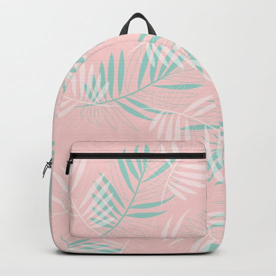 Palm Leaves Lace on blush Backpack