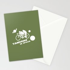 Tandems in Space in Green Stationery Cards