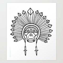 chief switchblade Art Print