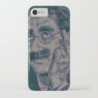 marx iPhone & iPod Cases featuring Groucho Marx - Duck Soup Screenplay Print by Robotic Ewe