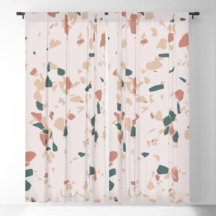 Terrazzo Peach Blackout Curtain