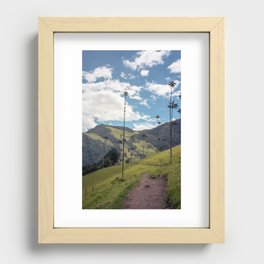 Wax Palms of Cocora Valley on film Recessed Framed Print