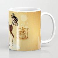 bambi Mugs featuring BAMBI by kravic