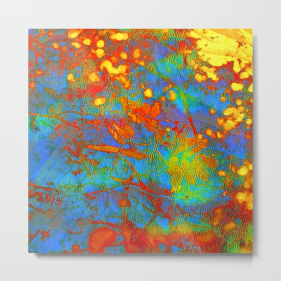 bright abstract leaves Metal Print