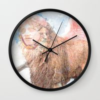 sphynx Wall Clocks featuring sphynx by Ganech joe