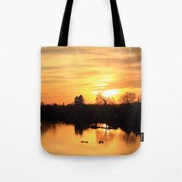 Floodplain at Sunset 3 Tote Bag