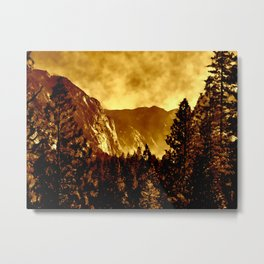 Mountains on Fire in California Metal Print
