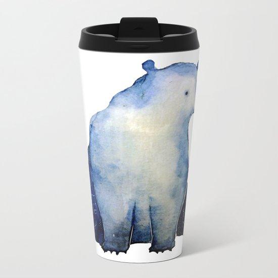 blue bear Metal Travel Mug