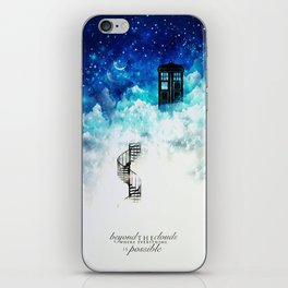 Beyond the clouds | Doctor Who iPhone Skin