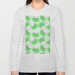 Fern-tastic Girls in Neon Green Long Sleeve T-shirt