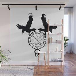 Norse Ravens - Vegvisir Wall Mural