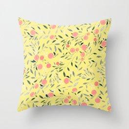 Peach Mania Throw Pillow