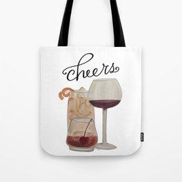 Cheers - Dark Drinks Tote Bag