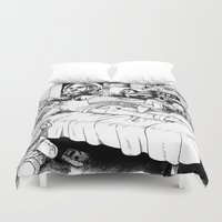hobbes Duvet Covers featuring Chicle. by Samuel Guerrero