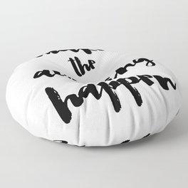 Make the Amazing Happen Typography Print Floor Pillow