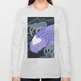 Love Koi Pastel Purple Long Sleeve T-shirt