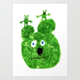 Green Bear Art Print