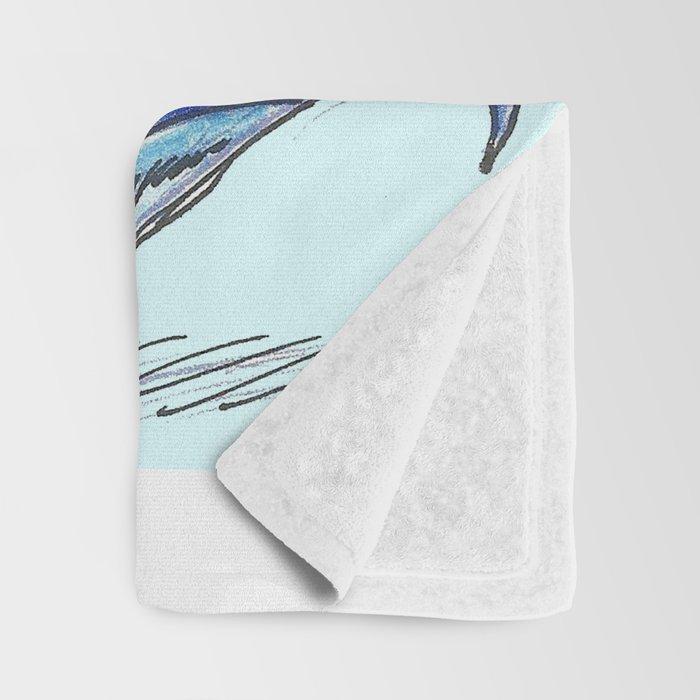 Baby Sapphire Dragon Throw Blanket