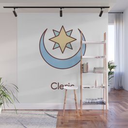 Cute Dungeons and Dragons Cleric class Wall Mural