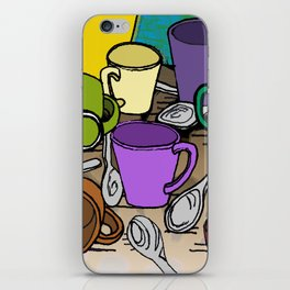 Cups and Spoons iPhone Skin