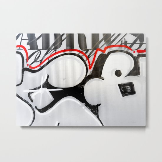 City Lovers under the Red Line Metal Print