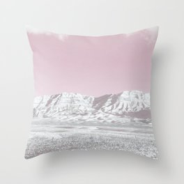 Mojave Snowcaps // Las Vegas Nevada Snowstorm in the Red Rock Canyon Desert Landscape Photograph Throw Pillow