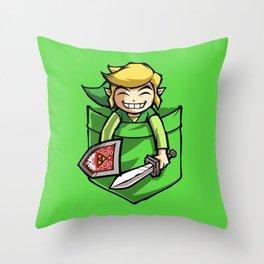 HAPPY POCKET LINK Throw Pillow