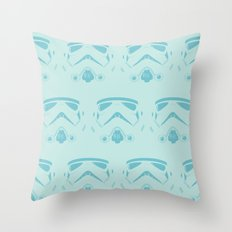 Troops In Blue Throw Pillow