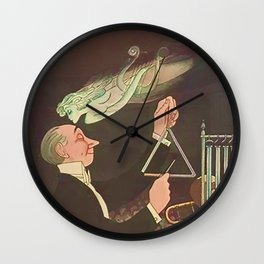 Vintage New Yorker Cover - Circa 1933 Wall Clock