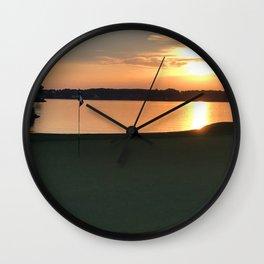11 at Sunset Wall Clock