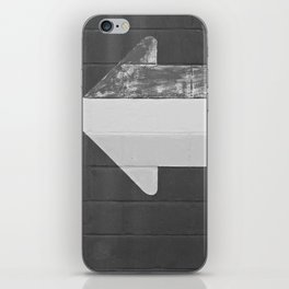 Arrow (Black and White) iPhone Skin