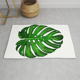 Monstera Leaf Paintings Rug