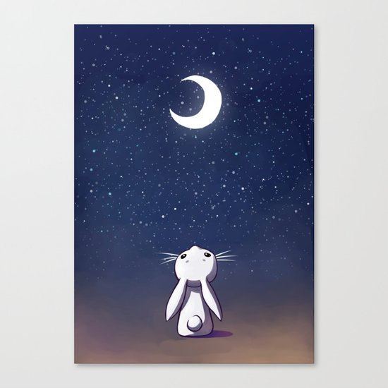 Moon Bunny Canvas Print