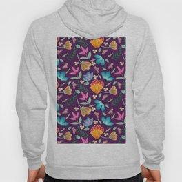 Brilliant Blooms on Purple Hoody