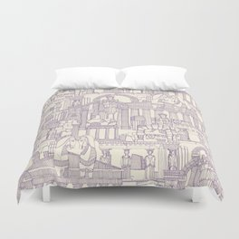 Ancient Greece purple pearl Duvet Cover