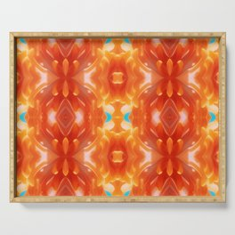 Psychedelic Abstract Serving Tray