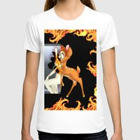 givenchy T-shirts featuring Givenchy scarf with flame and bambi print by Le' + WK$amahoodT Boutique by Paynasa®