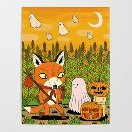 The Fox and the Pumpkin Poster