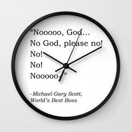 No, God, please no! Wall Clock