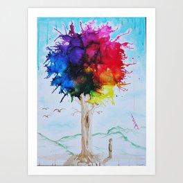 Tree Of Colour Art Print