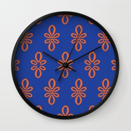 Oval Motif in Gator Colors Wall Clock