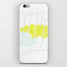 Trees and sunshine iPhone Skin