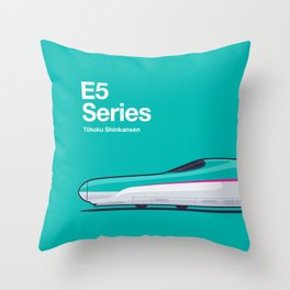 E5 Series Shinkansen Side Profile Throw Pillow