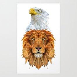 Eagle Lion Art Print