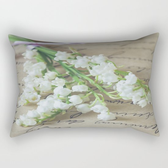 Love letter with lily of the valley Rectangular Pillow