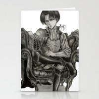 levi Stationery Cards featuring Levi Ackerman by OtakuRuki