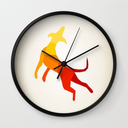 Abstract dog Wall Clock