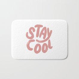 Stay Cool Vintage Pink Bath Mat