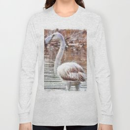 Flamingo Feathers Watercolor Long Sleeve T-shirt