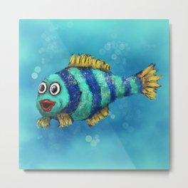 Fish - art for kids Metal Print